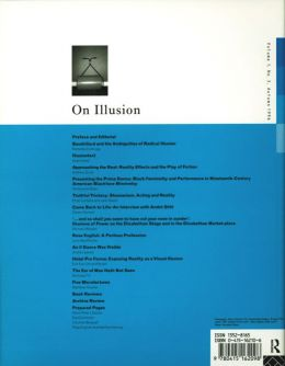 Back cover of Performance Research: Volume 1 Issue 3 - On Illusion