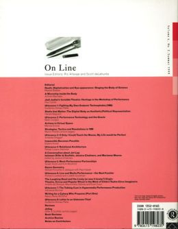 Back cover of Performance Research: Volume 4 Issue 2 - On Line