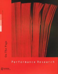 Front cover of Performance Research: Volume 9 Issue 2 - On the Page