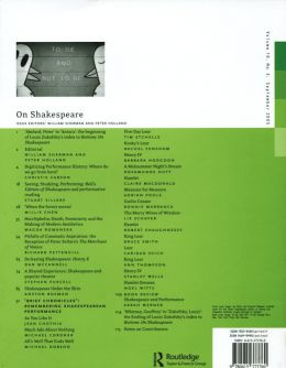 Back cover of Performance Research: Volume 10 Issue 3 - On Shakespeare
