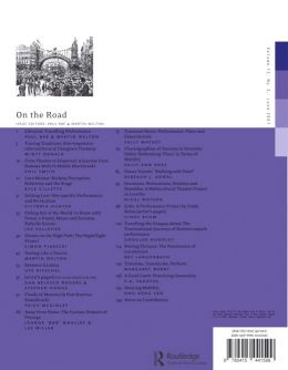 Back cover of Performance Research: Volume 12 Issue 2 - On the Road