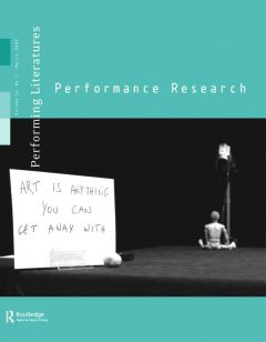 Front cover of Performance Research: Volume 14 Issue 1 - Performing Literatures