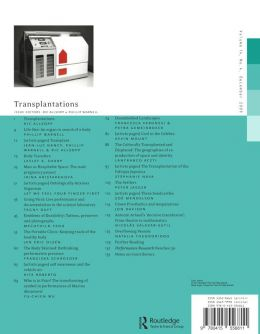 Back cover of Performance Research: Volume 14 Issue 4 - Transplantations