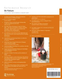 Back cover of Performance Research: Volume 17 Issue 1 - On Failure