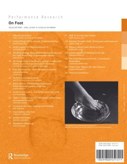 Back cover of Performance Research: Volume 17 Issue 2 - On Foot