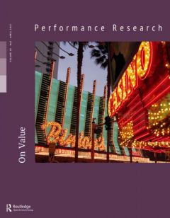 Front cover of Performance Research: Volume 18 Issue 2 - On Value