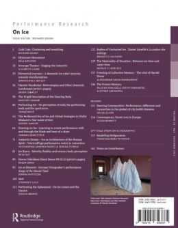 Back cover of Performance Research: Volume 18 Issue 6 - On Ice