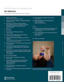 Back cover of Performance Research: Volume 19 Issue 4 - On Medicine