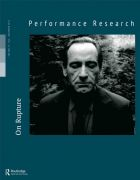 Front Cover of Performance Research: Volume 19 Issue 6 - On Rupture
