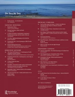 Back cover of Performance Research: Volume 21 Issue 2 - On Sea/At Sea