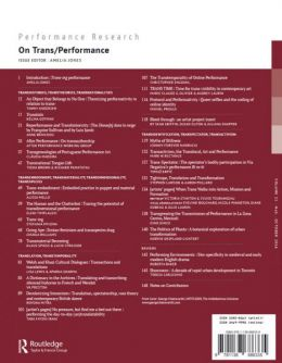 Back cover of Performance Research: Volume 21 Issue 5 - On Trans/Performance
