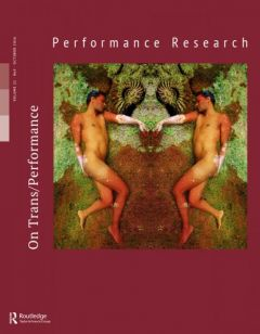 Front cover of Performance Research: Volume 21 Issue 5 - On Trans/Performance