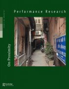 Front Cover of Performance Research: Volume 22 Issue 3 - On Proximity