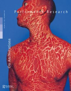 Performance Research, Volume 20, Issue 6 cover